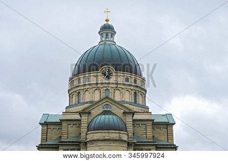 Historic Minor Basilica Exterior In Lincoln Village Neighborhood Of Milwaukee Wisconsin