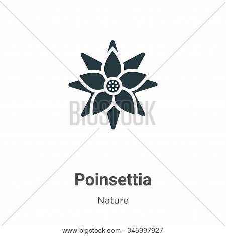 Poinsettia icon isolated on white background from nature collection. Poinsettia icon trendy and mode