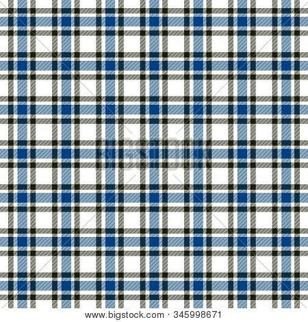 Tartan Blue Checkered Flannel Plaid Seamless Pattern Background