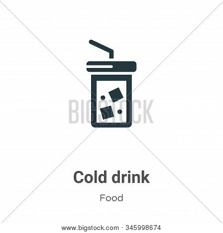 Cold drink icon isolated on white background from food collection. Cold drink icon trendy and modern