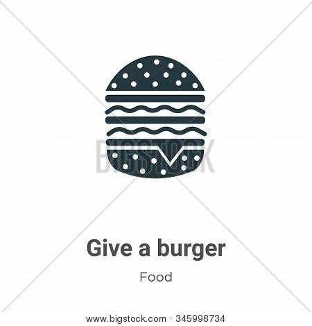 Give a burger icon isolated on white background from food collection. Give a burger icon trendy and