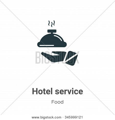 Hotel service icon isolated on white background from food collection. Hotel service icon trendy and
