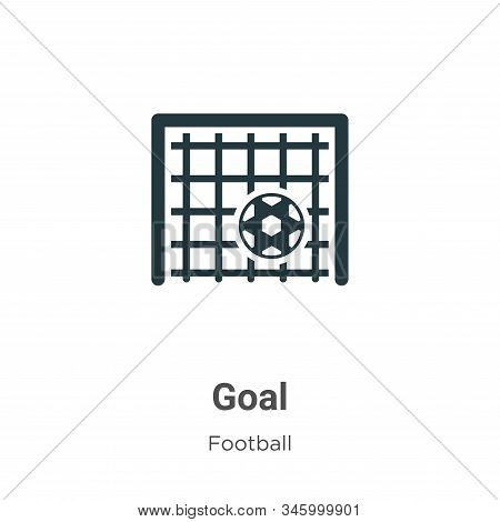 Goal icon isolated on white background from football collection. Goal icon trendy and modern Goal sy