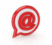 Email icon.Isolated on white background.3d rendered illustration. poster