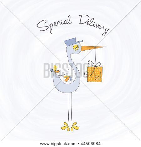baby shower card, illustration in vector format poster