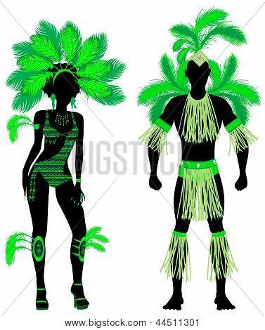 carnival couple green