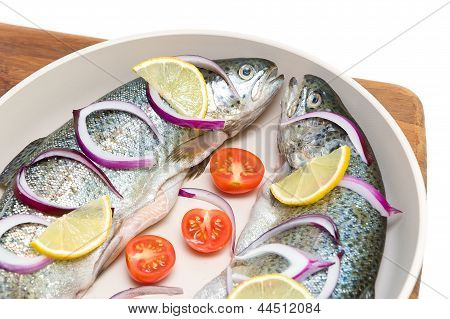 Fresh Trout With Lemon And Vegetables