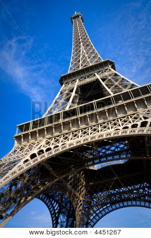 Close View On Eiffel Tower