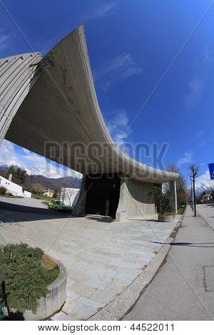 Modern church in Belluno, Cavarzano.