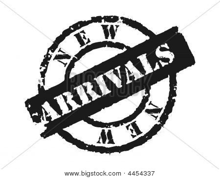 Stamp 'new Arrivals'