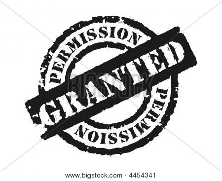 Stamp 'permission Granted'