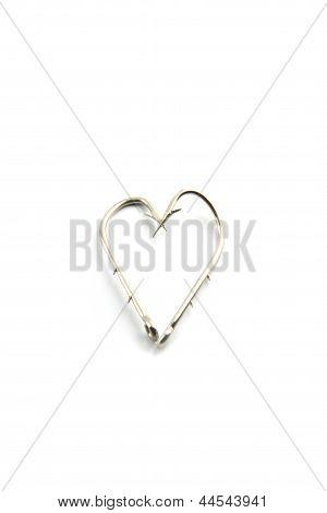 The Hooks Is Fishing,a Heart-shaped Hook.