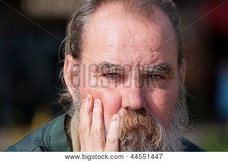 Homeless Man Outdoors