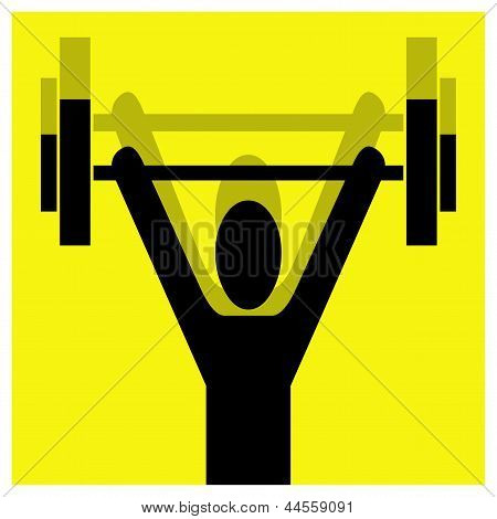Weightlifting Pictogram