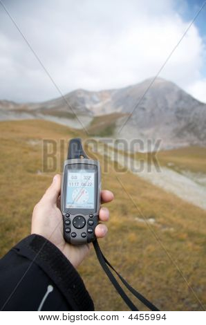 Hand With Gps