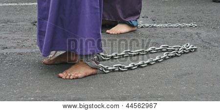 Chained feet