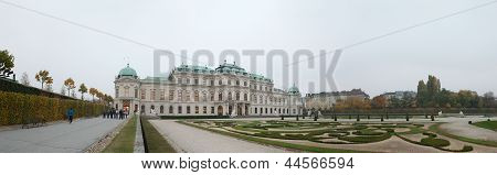 Belvedere Palace In The Autumn Gloaming, Vienna, Austria.