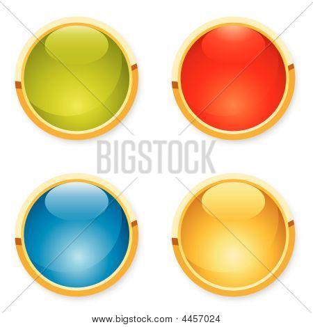 Icon Aqua Button