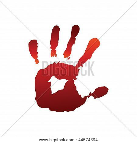 Red hand print
