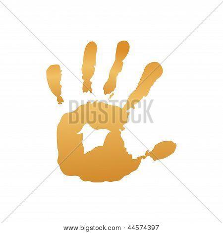 Yellow hand print