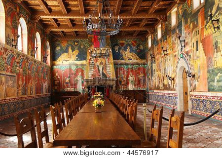 Castello di Amorosa Winery Great Hall in Napa Valley
