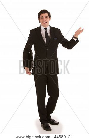Animated Handsome Young Businessman