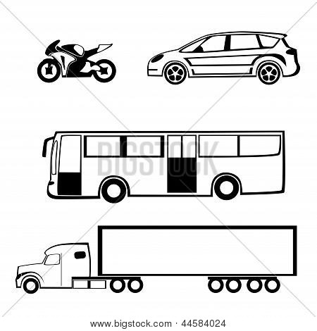 Bike car bus truck