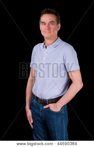 Portrait Of Handsome Smiling Happy Man