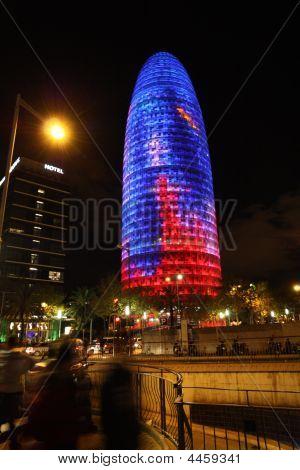 Torre Agbar Skyscraper In Barcelona
