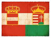 Historic flag of the Austro-Hungarian Monarchy created in grunge style valid 1869-1918 poster
