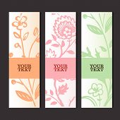 Glamour invitation or greeting card with floral background poster