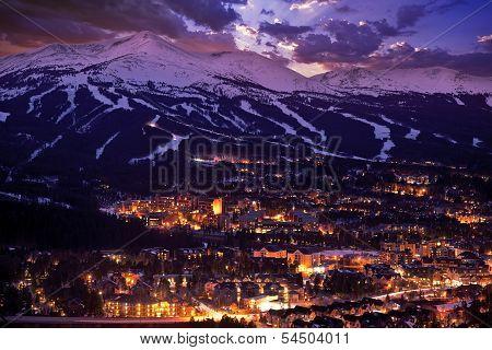Breckenridge Winter Sunset