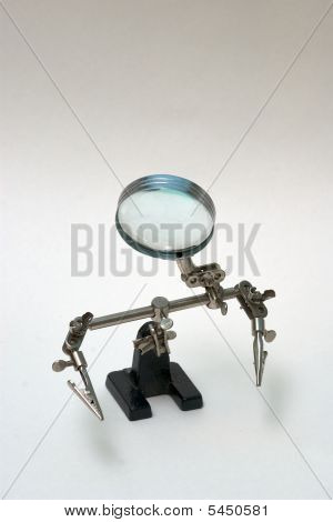 Clamp With Loupe, Sad Silhouette