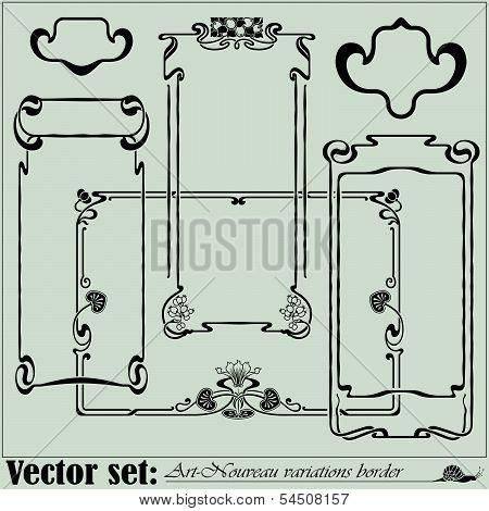 Art-nouveau variation border