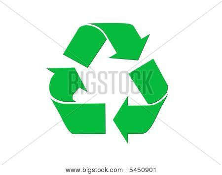 Green Recycling Symbol