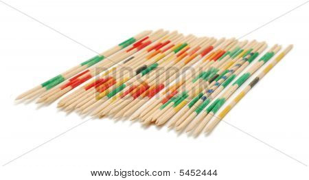 Mikado Sticks Isolated
