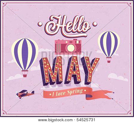 Hello May Typographic Design.