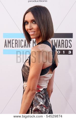 LOS ANGELES - NOV 24:  Giuliana Rancic at the 2013 American Music Awards Arrivals at Nokia Theater on November 24, 2013 in Los Angeles, CA