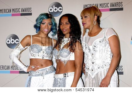 LOS ANGELES - NOV 24:  Lil Mama, TLC at the 2013 American Music Awards Press Room at Nokia Theater on November 24, 2013 in Los Angeles, CA