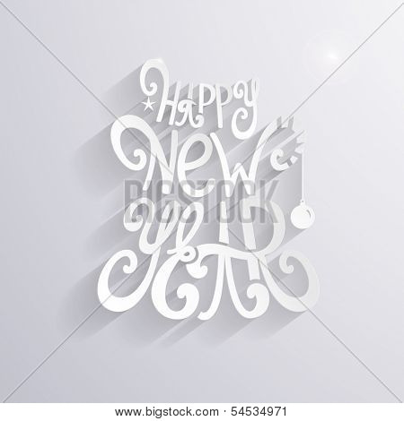 Happy New Year inscription poster