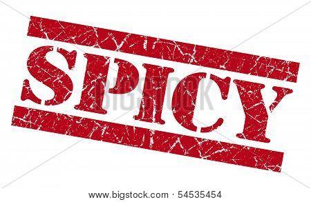 Spicy Red Grunge Stamp