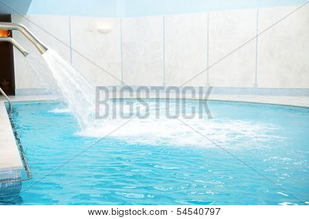 Swimming Pool In The Spa At Luxury Hotel, Halkidiki, Greece