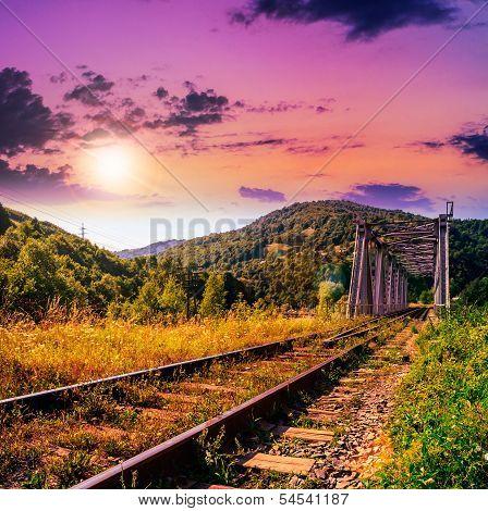 Morning Rail Metal Bridge