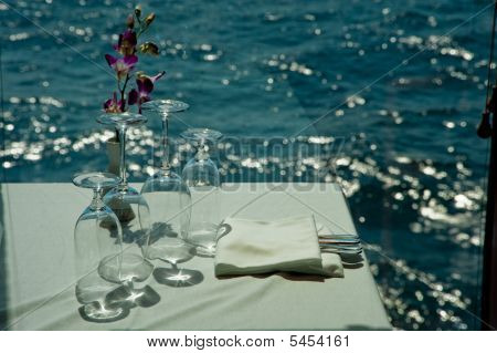 Wine Glasses By The Sea