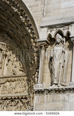 Notre Dame Cathedral With Sculptures