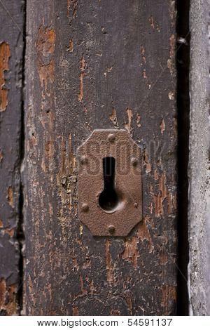 Keyhole Of Old Doorlock 8