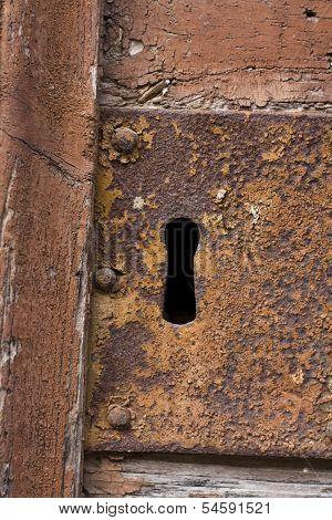 Keyhole Of Old Doorlock 19