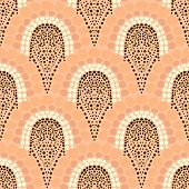 Geometric pattern in art deco style in soft colors poster