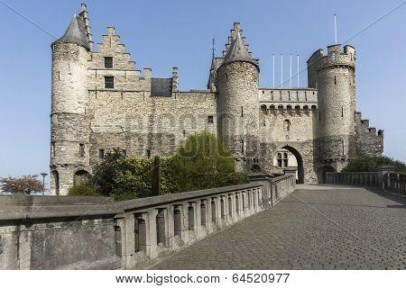 The Castle Of Antwerp, Belgium.