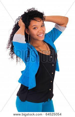 Portrait Of Beautiful Woman African Black